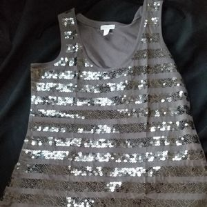 Garnet Hill Sequined Tank Top - new w/out tags